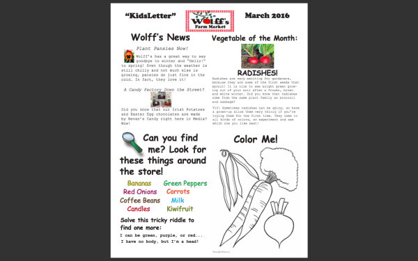 Kids' Newsletter - March