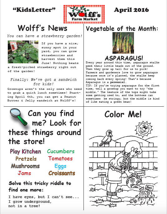 April Kids' Newsletter