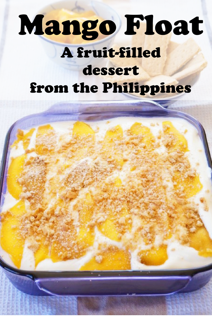 Mango float is a delicious recipe from the Philippines, made with fresh mangoes, whipped cream & graham crackers.