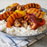 Caribbean Jerk Chicken with Grilled Peaches