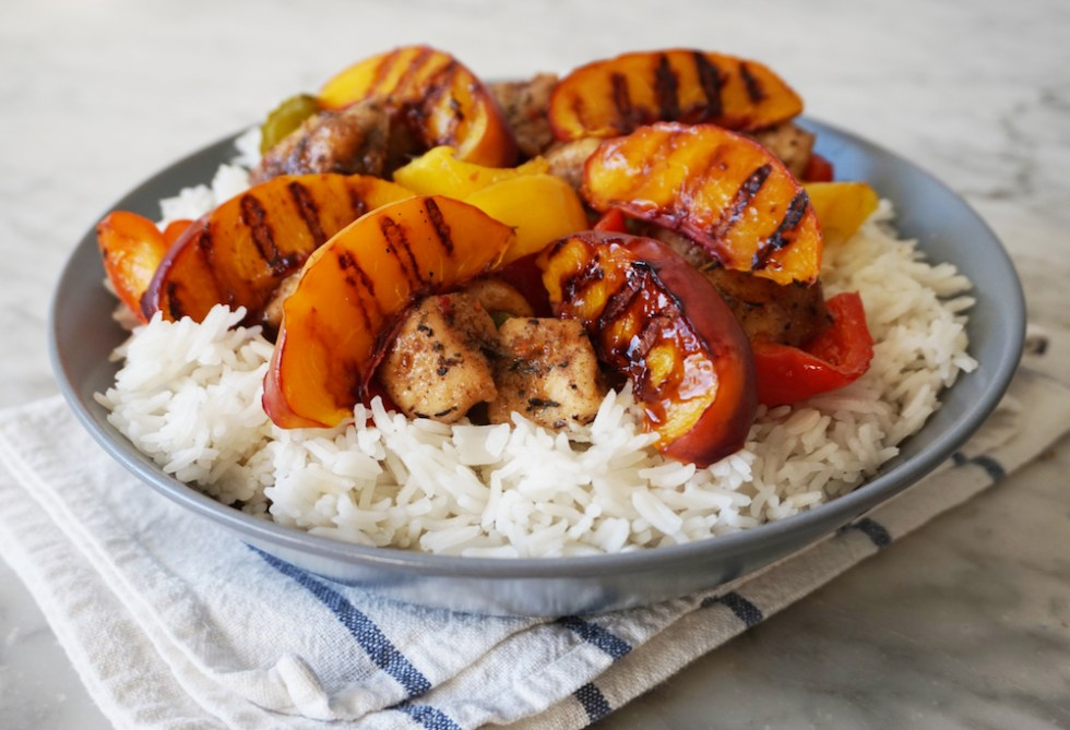 grilled-peaches-caribbean-chicken