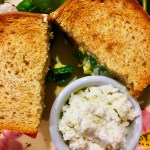 egg sandwich with horseradish sauce