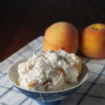 No-Churn Peach Ice Cream