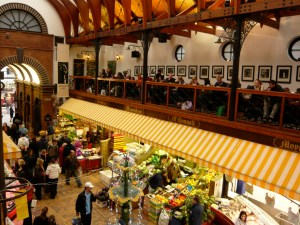 Blick vom Cafe des English Markets