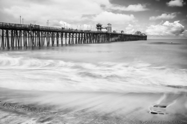 Oceanside Pier taken in infrared.