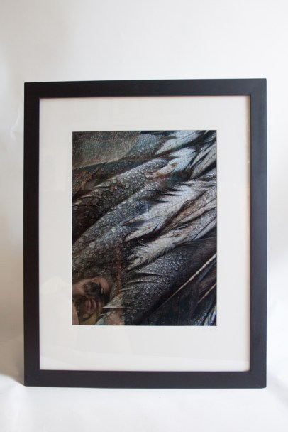 "Photo metallic paper print 16""x20"", framed size 25""x31"""