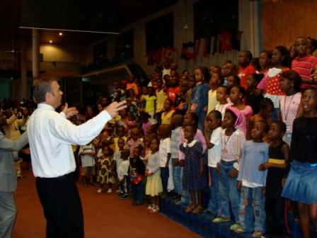 "Pastor Rice wrote 2 awesome songs right at the conference - here the kids spontaneously get right into one called ""Africa will be saved!"" It was incredible! Maybe he'll write one for London at our Oct conference?!"