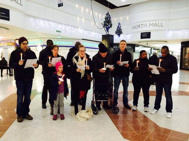 Stratford Congregation Carol singing at Westfields Mall