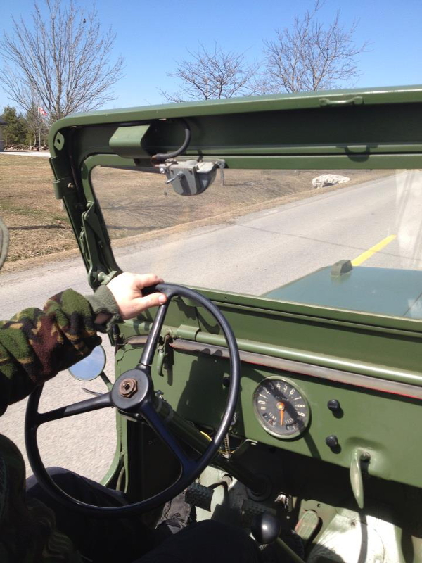 Driving Antique Army Jeep