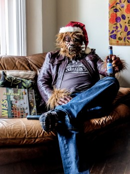 Festive Wolfman Ready For Movies