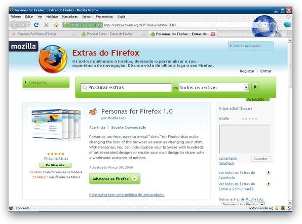 Personalize o seu Firefox (2/2)
