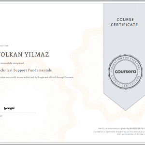 Technical Support Fundamentals sertifikasını aldım