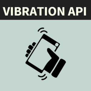Vibration API kullanımı