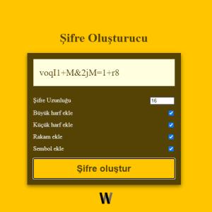 Online şifre oluşturucu