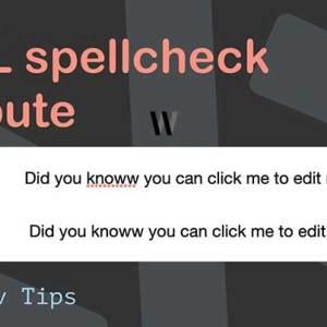 HTML yazım denetimi özelliği