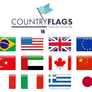 Ülke bayrakları için API