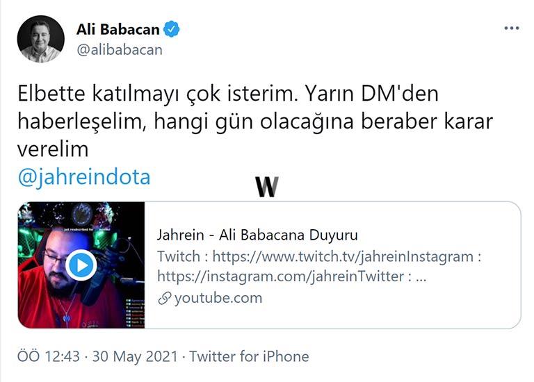 Ali Babacan - Jahrein