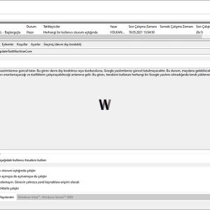 Windows Görev zamanlayıcıda PowerShell
