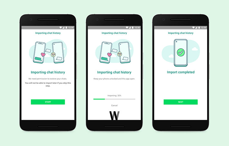 WhatsApp cross-platform migration tool