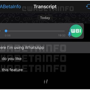 WhatsApp sesli mesajları yazıya dönüştürmek