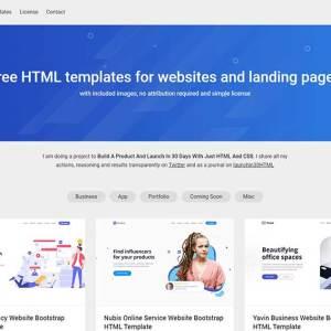 Landing pages için ücretsiz HTML temalar