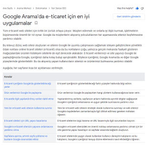Google Arama'da e-ticaret için en iyi uygulamalar