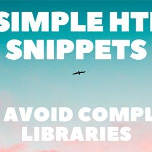 12 basit HTML kodu