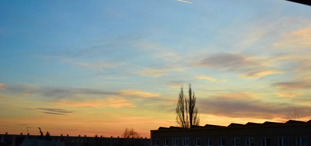 Abendhimmel über Cottbus (2/4)