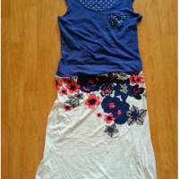 Upcycling - Bluse und Top werden zum Kleid