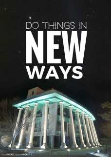 Do things in new ways (Good WORD Spread WORLD, excerpt from Pastor Jeong Myeong Seok's sermons)