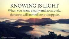 Knowing is light. When you know clearly and accurately, darkness will immediately disappear (Good WORD Spread WORLD, excerpt from Pastor Jeong Myeong Seok's sermons)