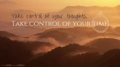 Take control of your thoughts. Take control of your time (Good WORD Spread WORLD, excerpt from Pastor Jeong Myeong Seok's sermons)