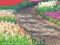 Those who take action at the right time are those who walk on a smooth path (Good WORD Spread WORLD, excerpt from Pastor Jeong Myeong Seok's sermons)