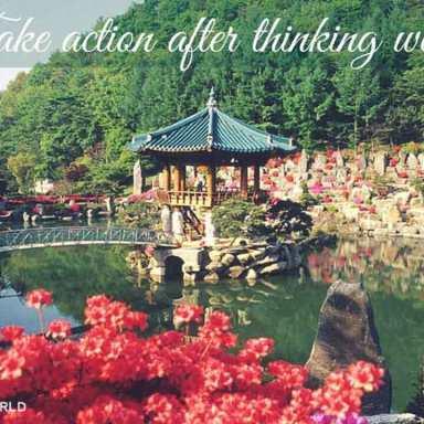 The lake pavilion in spring