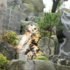 Pastor Jung Myung Seok realized the method of erecting rocks for developing the Ambition Masterpiece through this rock