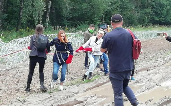 niszczenie zasiek Białoruś