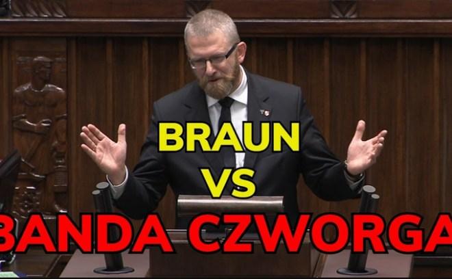 Grzegorz Braun w Sejmie przed wykluczeniem