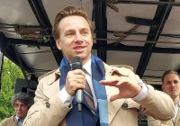 Krzysztof Bosak przemawia na Marszu Wolności