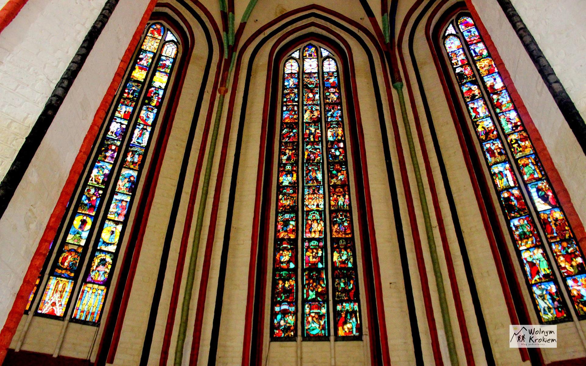 Frankfurt nad Odrą witraże w kościele Najświętszej Maryi Panny