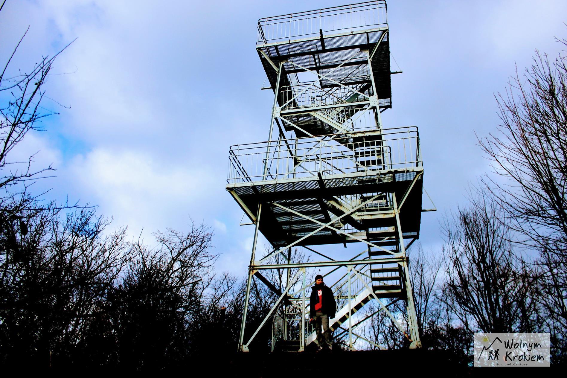 Wieża widokowa na szczycie Góry Parkowej w Bielawie na Dolnym Śląsku