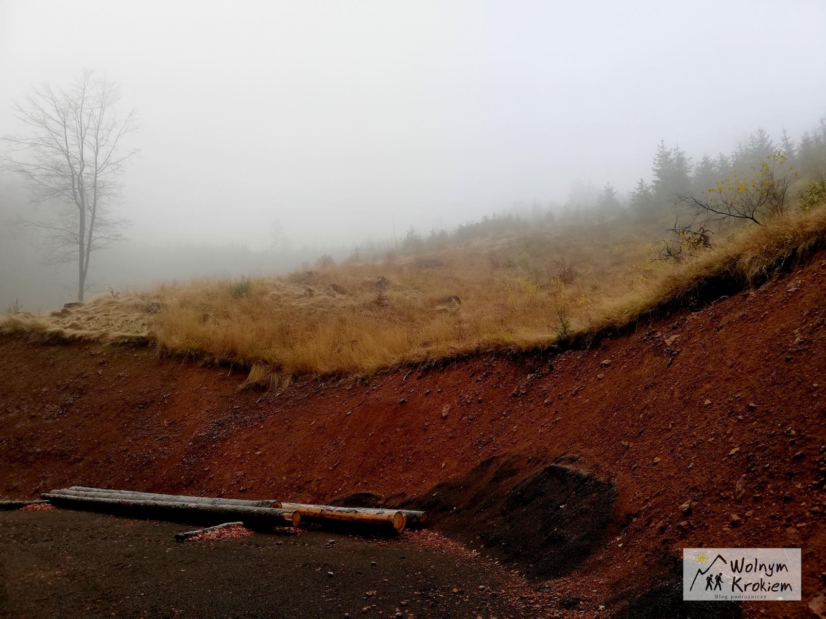 Góry Kamienne szlak żółty na Lesistą Wielką