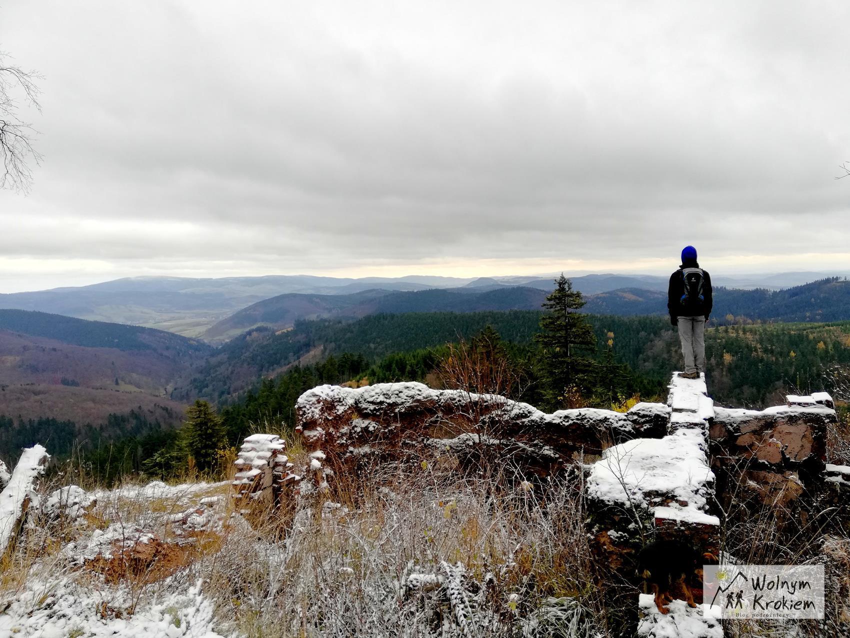 Góry Kamienne szlak żółty na Waligórę