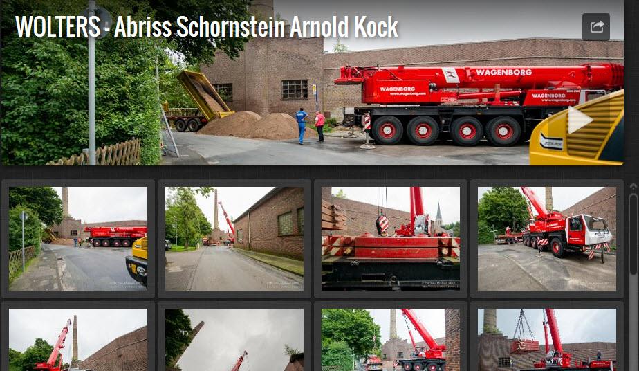 """Abrissarbeiten bei der Firma """"Arnold Kock"""" in Steinfurt / Borghorst"""
