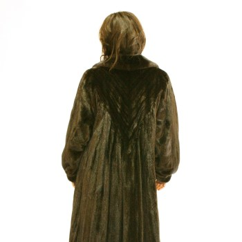 Ranch Mink Swing Coat Directional Back 017363