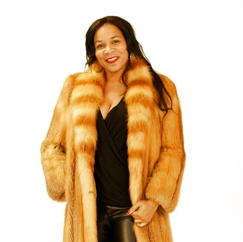Full Length Red Fox Fur Coat 017845