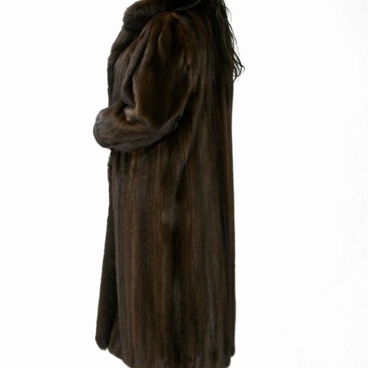 Plus Size Mink Coat Fox Trim 017531