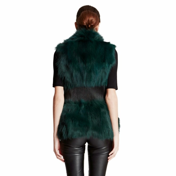 fox vest leather waist