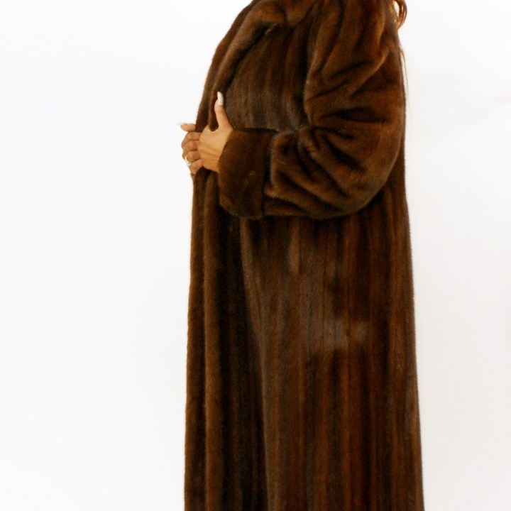Brown Mink Swing Coat