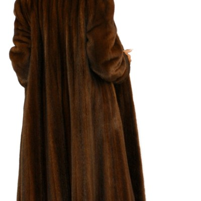 Brown Mink Swing Coat