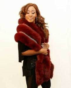 Burgundy Fox Wrap